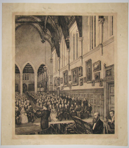 "[Charterhouse ____ ""Saturday Evening in Hall.""]"