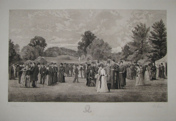 "[Beaumont College. ___ ""The Lawn on Speech Day"".]"