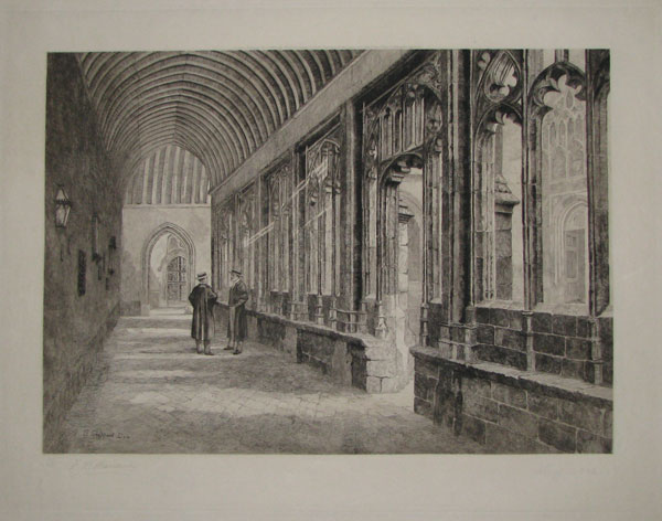 "[Winchester. _______ ""The Cloisters and Chantry"".]"