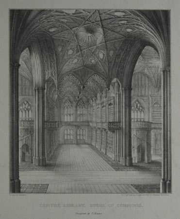 Centre Library, House of Commons. Designed by T. Hopper.