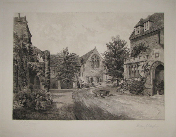 "[Sherborne___""The Inner Court""__from the Bell Building.]"