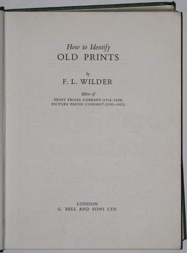 How to Identify Old Prints.