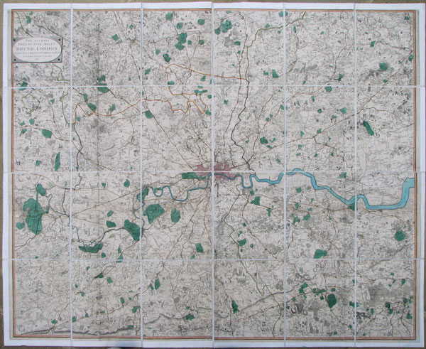 The Country Twenty-Five Miles Round London planned from a Scale of One Mile to an Inch.