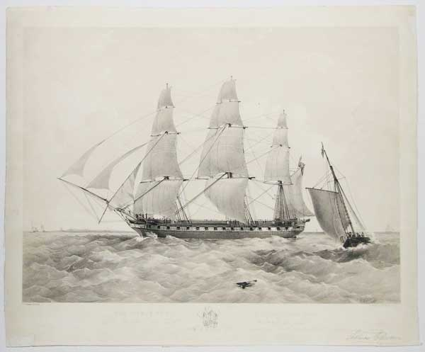 The Prince of Wales, East Indiaman, (1350 Tons.) To Richard Green, Esq.r of Blackwall, this print is by permission respectfully dedicated by his obedient Servant, Thomas Dutton.