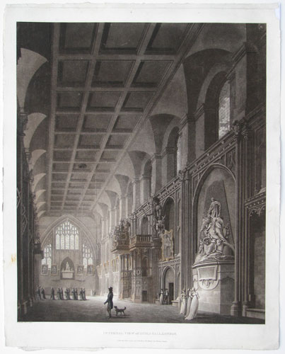 Internal View of Guild Hall, London.