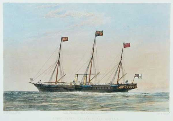 Royal Yacht Victoria and Albert.
