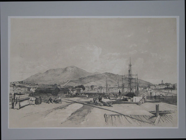 [Hobart Town from the new wharf.]