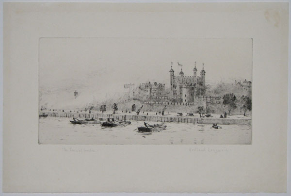 The Tower of London [in pencil to the left.]  (A Royal Salute).
