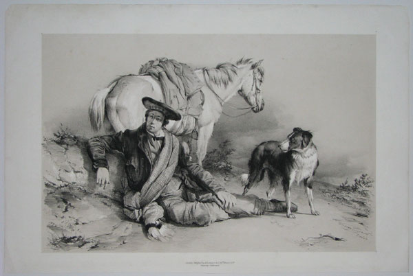 [Man with his horse and dog, Cumberland.] Cumberland 1836.