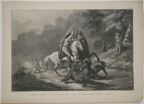 [Untitled: two cavalrymen fighting with sabres.]