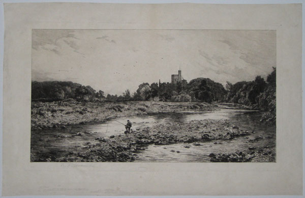 "[Hornby Castle from across ""The Wenning"" (Midday Scene).]"