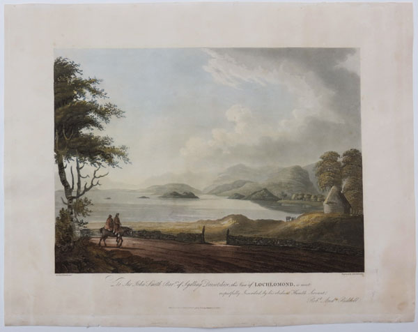 To Sir John Smith Bar.t of Sydling Dorsetshire, this View of Lochlomond, is most respectfully Inscribed by his obedient Humble Servant Rob.t And.w Riddell.
