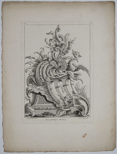 [Plate 3: A bird on top or a Rococo desgin ornament feature.]