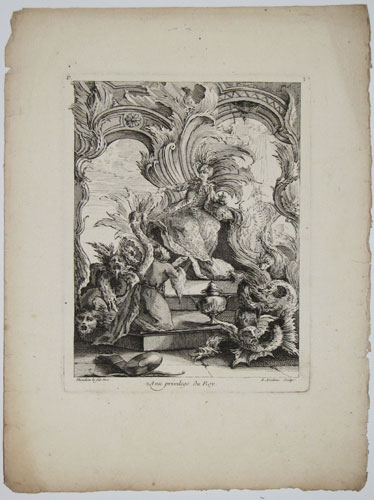 [Plate 3: Chinese Emperor on Throne.]