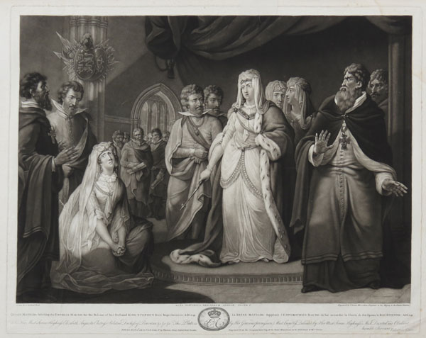 Queen Matilda soliciting the Empress Maude for the Release of her Husband King Stephen from Imprisonment. A.D. 1141.