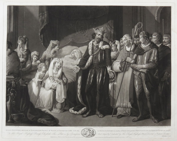 Queen Eleonora, delivered of Edward, first Prince of Wales, at Caernarvon Castle. A.D. 1284.