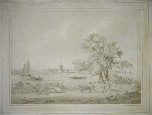 [View by the River Thames near Nine Elms].