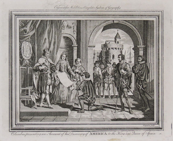 Columbus presenting an Account of his Discovery of America to the King and Queen of Spain.