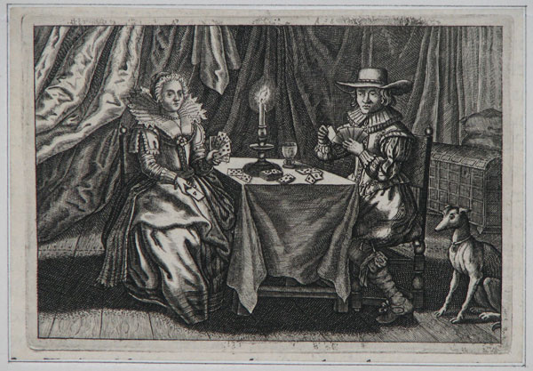 [Couple playing cards.]