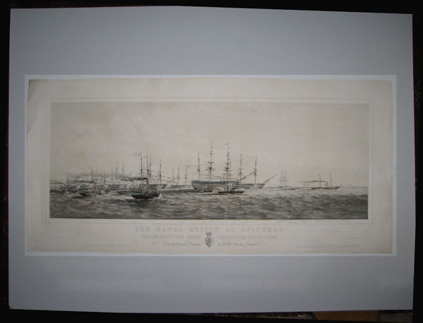 The Naval Review at Spithead. Her Majesty the Queen Leading the Fleet to Sea. From the Original Drawing by O.W. Brierley, Esquire.
