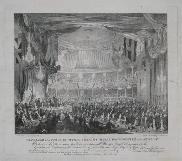 Representation of the Dinner in the Theatre Royal Manchester on the 4.th Dec.r 1832.