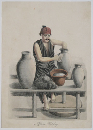 a Potter Working.