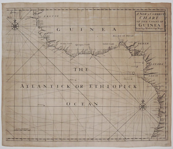 A New & Correct Chart of the Coast of Guinea From Cape Verd to Cape Negro.