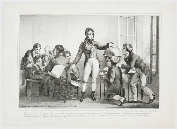 [Louis Philippe instructing his children at Orleans House.]
