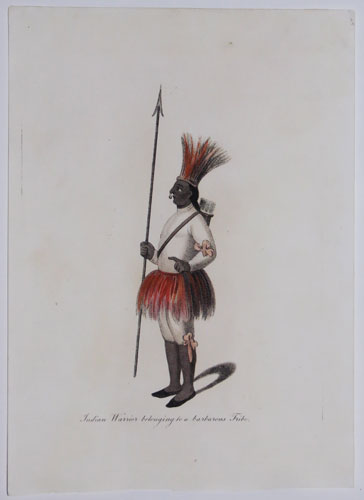 Indian Warrior belonging to a barbarous Tribe.