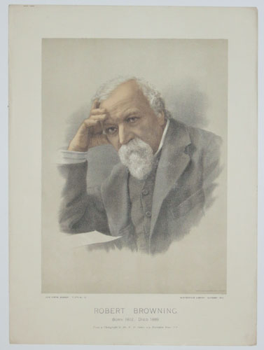 Robert Browning. Born 1812; Died 1889.