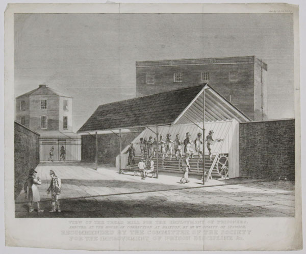 View of the Tread Mill for the Employment of Prisoners, Erected at the House of Correction at Brixton, by Mr Cubitt of Ipswich.