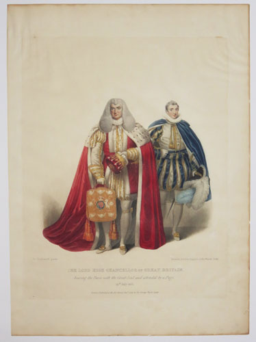 The Lord High Chancellor of Great Britain, bearing the Purse with the Great Seal, and attended by a Page.