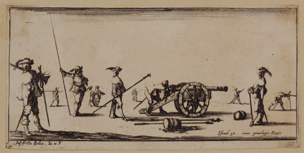 [Soldier pointing a cannon]
