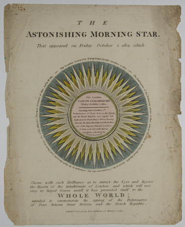 The Astonishing Morning Star. That Appeared on Friday October 2. 1801