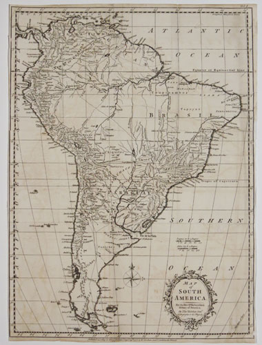 Map of South America. For the Rev. Dr. Robertson's History of America.