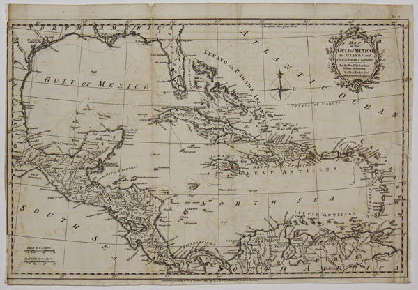 Map of the Gulf of Mexico, the Islands and Countries adjacent. For the Rev. Dr. Robertson's History of America.