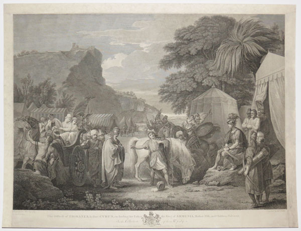 The Distress of Tigranes, before Cyrus, on finding his Father the King of Armenia, Mother, Wife, and Children, Prisoners.