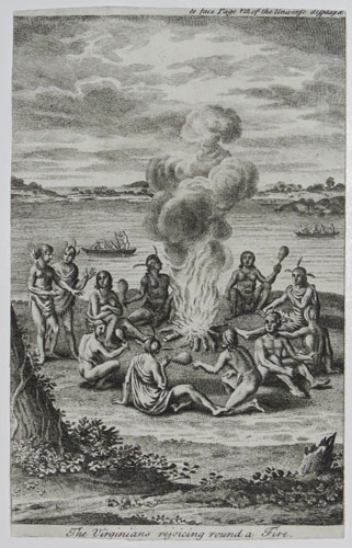 The Virginians rejoicing round a Fire.