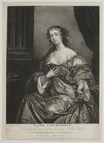 Lady Grammont. Done from the Original Picture, Painted by Sr. Peter Lely. In the Royal Palace at Windsor. By James Mc.Ardell.