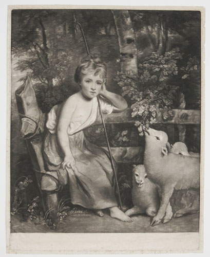 [The Young Shepherdess.]