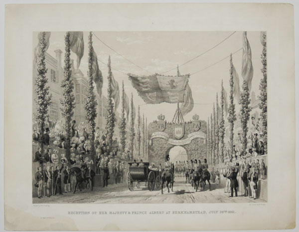 Reception of Her Majesty & Prince Albert at Berkhamstead, July 26th. 1841.