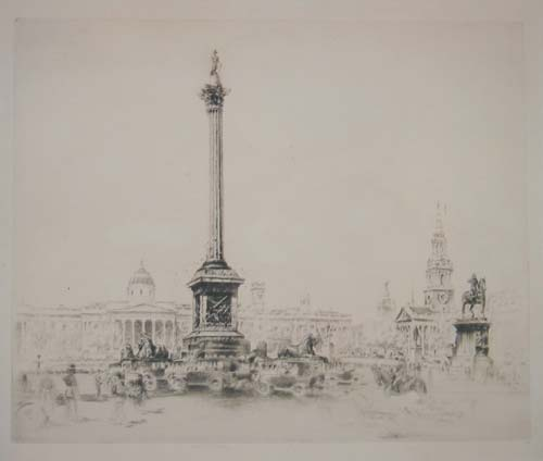 [Nelson's Column, Trafalgar Square, and National Gallery.]