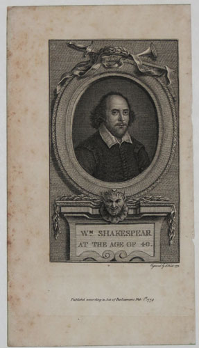 W.m Shakespeare at the age of 40.
