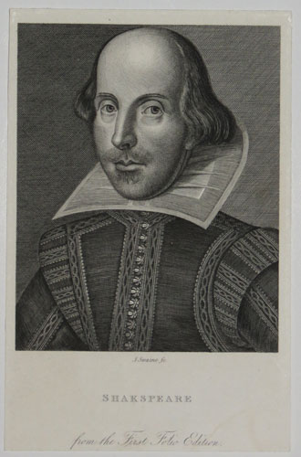 Shakespeare from the First Folio Edition.