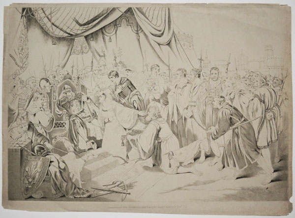 [To Her Royal Highness Princess Charlotte Augusta This Plate of the Surrender of Calais,