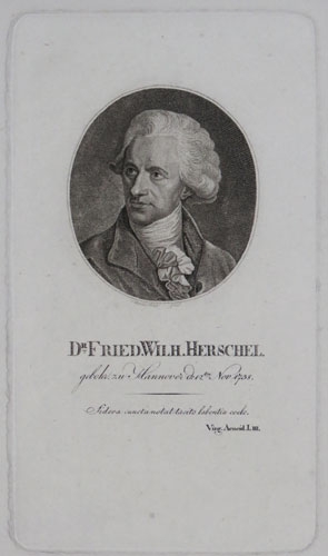 Dr. Fried. Wilh. Herschel. gebohr zu Hannover d:12ten Nov 1738.