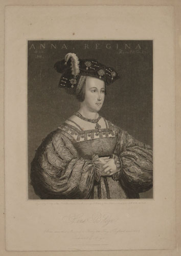 Anna Boleyn. Born anno 1503 Married to Henry VIII King of England anno 1530, Beheaded 19th May 1536.