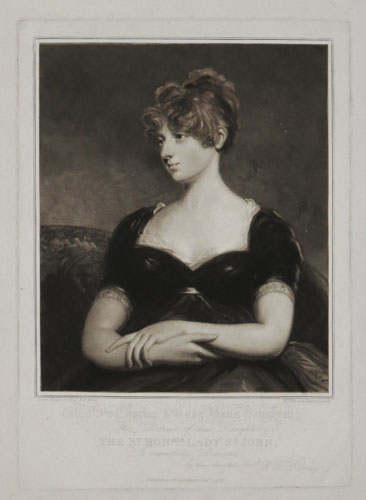 To Sir Charles & Lady Rous-Boughton, This Portrait of thie Daughter, The Rt. Hon.ble Lady St. John, Is respectfully Dedicated by their devoted Serv.t W.W. Barney.