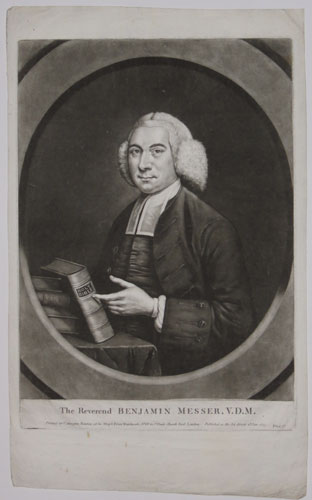 The Reverend Benjamin Messer, V.D.M.