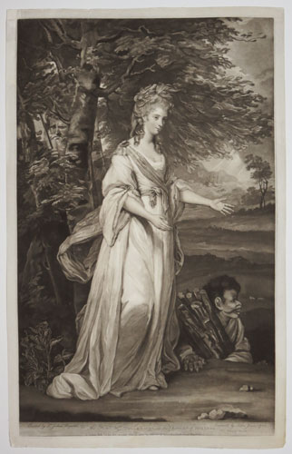 The Hon.ble Mrs. Tollemache, in the Character of Miranda.